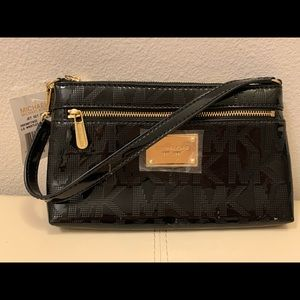 NWT Michael Kors black clutch